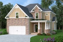 Home Plan - Traditional Exterior - Front Elevation Plan #419-198