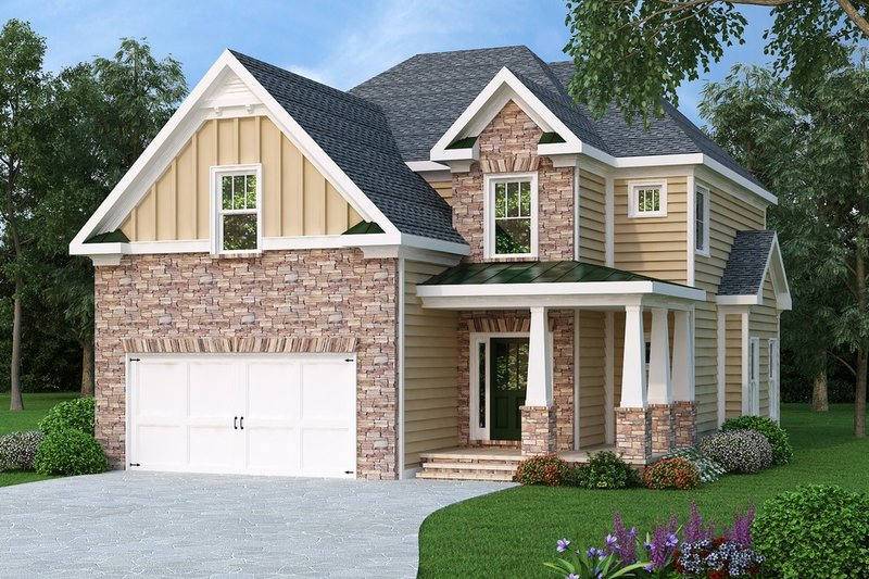 Traditional Exterior - Front Elevation Plan #419-198 - Houseplans.com