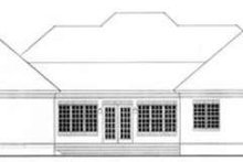 Colonial Exterior - Rear Elevation Plan #406-125