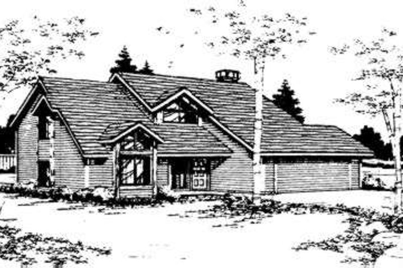 Traditional Style House Plan - 3 Beds 2.5 Baths 1815 Sq/Ft Plan #303-109 Exterior - Front Elevation