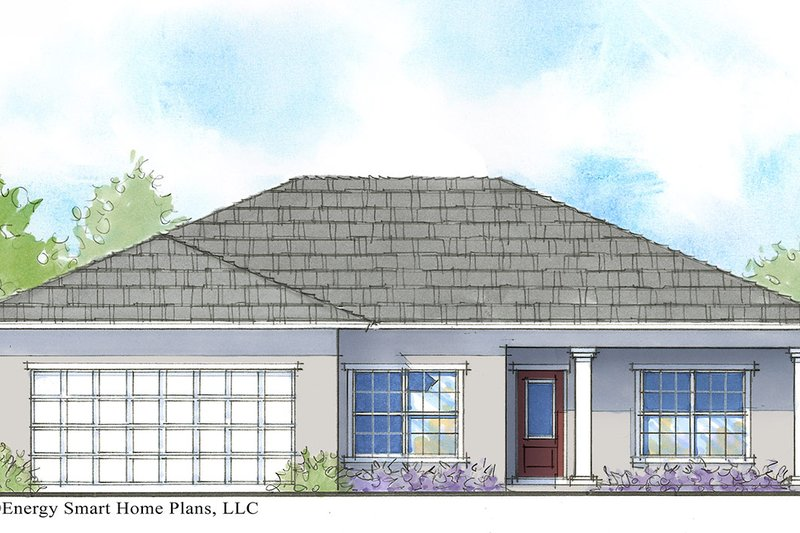 Cottage Style House Plan - 3 Beds 2 Baths 1547 Sq/Ft Plan #938-103 Exterior - Front Elevation