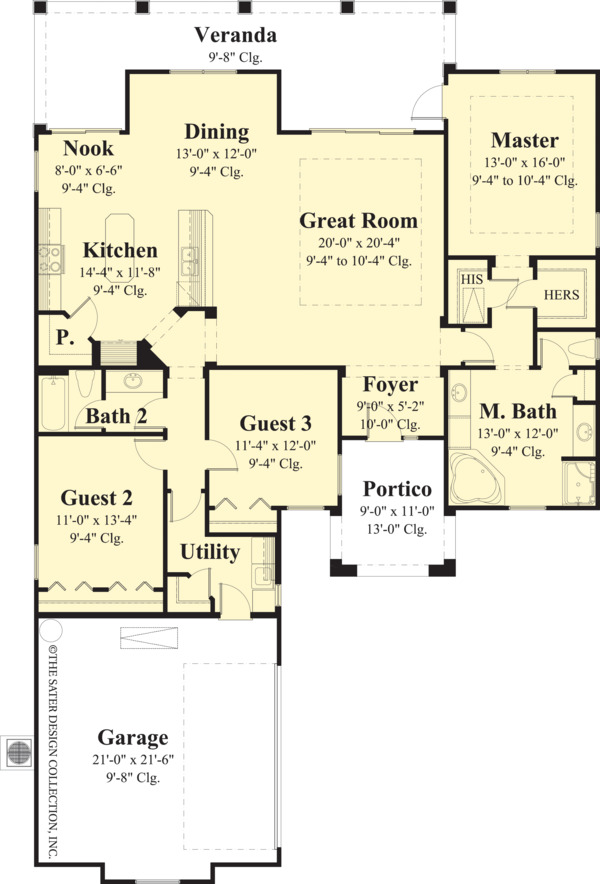Ranch Floor Plan - Main Floor Plan Plan #930-482