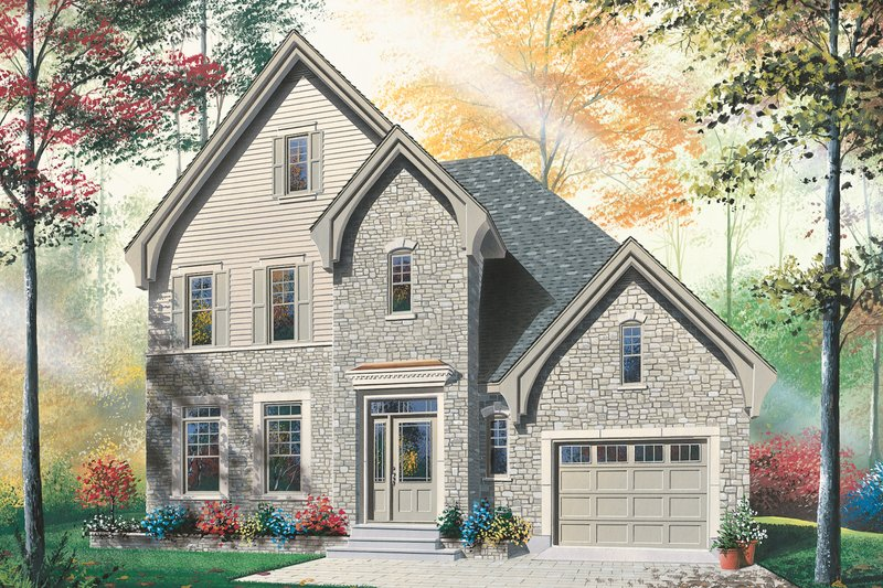 House Plan Design - Country Exterior - Front Elevation Plan #23-2337