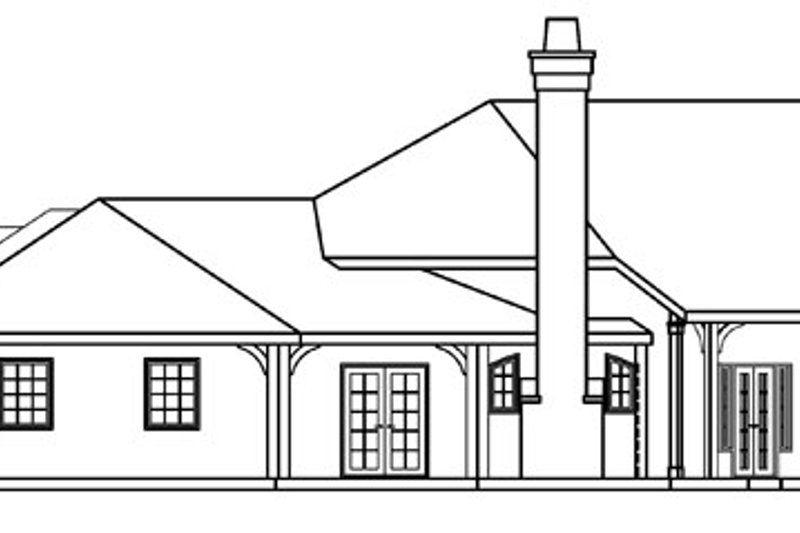 Ranch Exterior - Other Elevation Plan #124-372 - Houseplans.com