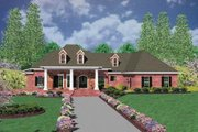Southern Style House Plan - 3 Beds 3 Baths 3737 Sq/Ft Plan #36-243 Exterior - Front Elevation
