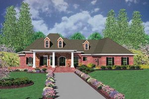 Southern Exterior - Front Elevation Plan #36-243