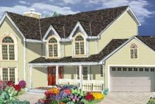 House Plan Design - Traditional Exterior - Front Elevation Plan #3-175