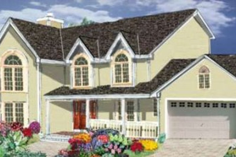 Traditional Style House Plan - 4 Beds 2.5 Baths 2170 Sq/Ft Plan #3-175 Exterior - Front Elevation