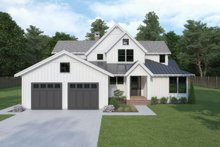 Dream House Plan - Farmhouse Exterior - Front Elevation Plan #1070-3