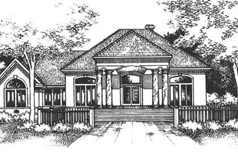 Dream House Plan - Mediterranean Exterior - Front Elevation Plan #320-418