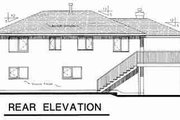 Traditional Style House Plan - 2 Beds 1.5 Baths 1058 Sq/Ft Plan #18-9065 Exterior - Rear Elevation