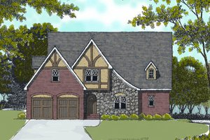 Dream House Plan - European Exterior - Front Elevation Plan #413-808