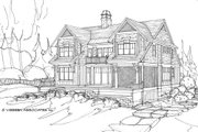 Country Style House Plan - 5 Beds 4.5 Baths 4608 Sq/Ft Plan #928-4 Exterior - Rear Elevation