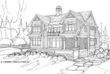 Country Exterior - Rear Elevation Plan #928-4