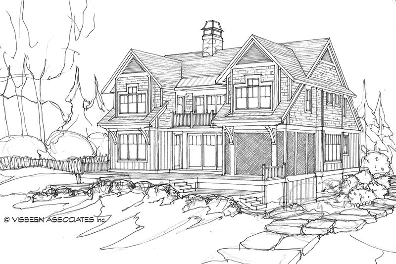 Country Exterior - Rear Elevation Plan #928-4 - Houseplans.com