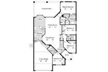 European Floor Plan - Main Floor Plan Plan #417-211
