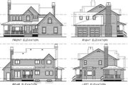Traditional Style House Plan - 3 Beds 2.5 Baths 1924 Sq/Ft Plan #47-386 Exterior - Rear Elevation