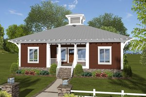 Bungalow Exterior - Front Elevation Plan #56-619