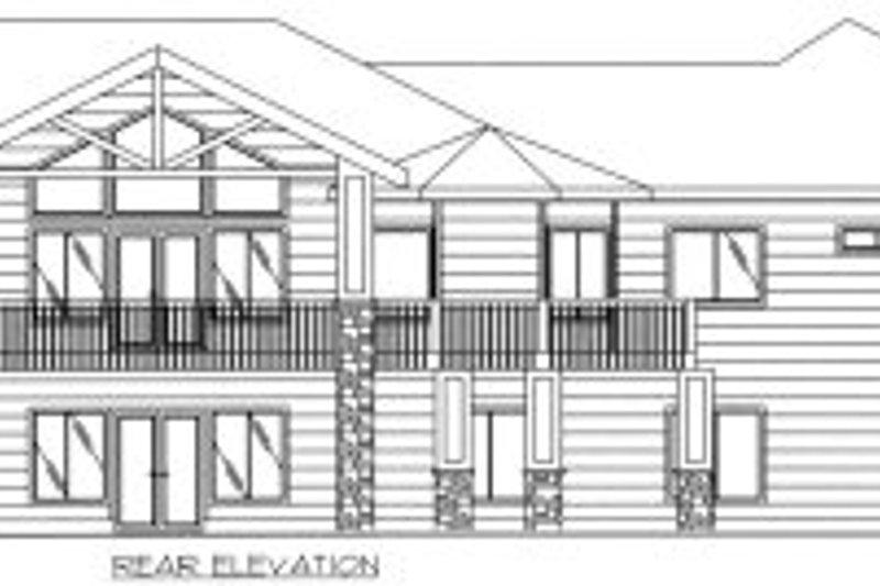 Traditional Exterior - Rear Elevation Plan #117-390 - Houseplans.com