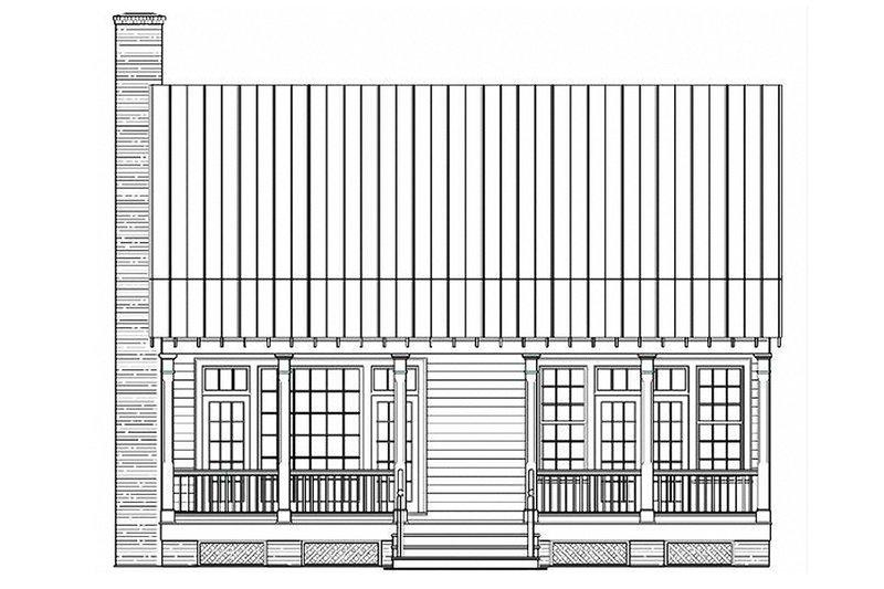Country Exterior - Rear Elevation Plan #137-262 - Houseplans.com