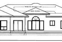 Architectural House Design - Mediterranean Exterior - Rear Elevation Plan #95-113