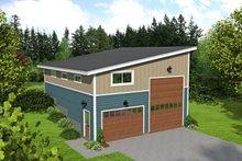 House Plan Design - Contemporary Exterior - Front Elevation Plan #932-187