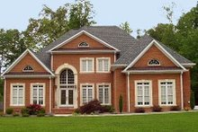Dream House Plan - European Exterior - Front Elevation Plan #119-129