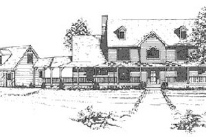 Country Exterior - Front Elevation Plan #30-193