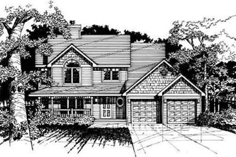 Farmhouse Style House Plan - 3 Beds 2.5 Baths 1814 Sq/Ft Plan #50-206 Exterior - Front Elevation