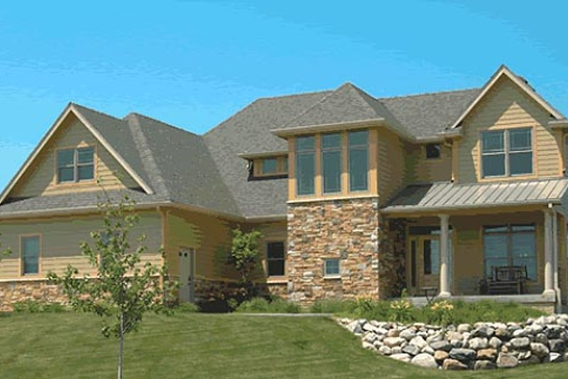 Home Plan - Farmhouse Exterior - Front Elevation Plan #20-752