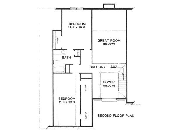 Upper Floor Plan - 2700 square foot European home