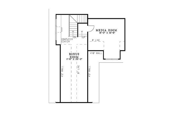 Craftsman Floor Plan - Upper Floor Plan #17-2374