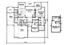 European Floor Plan - Main Floor Plan Plan #20-2070
