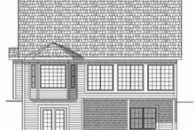 Architectural House Design - Traditional Exterior - Rear Elevation Plan #70-661