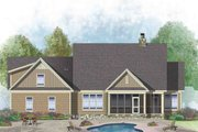 European Style House Plan - 4 Beds 3 Baths 2132 Sq/Ft Plan #929-1041 Exterior - Rear Elevation