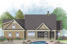 House Plan Design - European Exterior - Rear Elevation Plan #929-1041