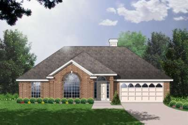 Traditional Exterior - Front Elevation Plan #40-185 - Houseplans.com
