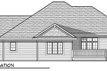Home Plan - Traditional Exterior - Rear Elevation Plan #70-862
