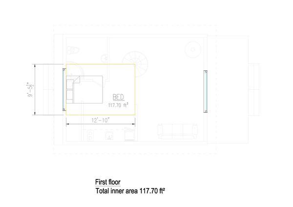 Cabin Floor Plan - Upper Floor Plan #549-30
