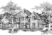 European Style House Plan - 4 Beds 3.5 Baths 3363 Sq/Ft Plan #329-298 Exterior - Front Elevation