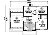 Traditional Style House Plan - 3 Beds 1 Baths 2103 Sq/Ft Plan #25-4676 Floor Plan - Upper Floor Plan