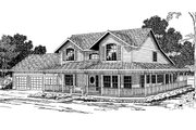 Victorian Style House Plan - 4 Beds 4 Baths 3737 Sq/Ft Plan #124-268 Exterior - Front Elevation