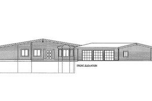 Modern Exterior - Front Elevation Plan #117-653