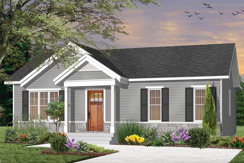 Dream House Plan - Craftsman Exterior - Front Elevation Plan #23-2696