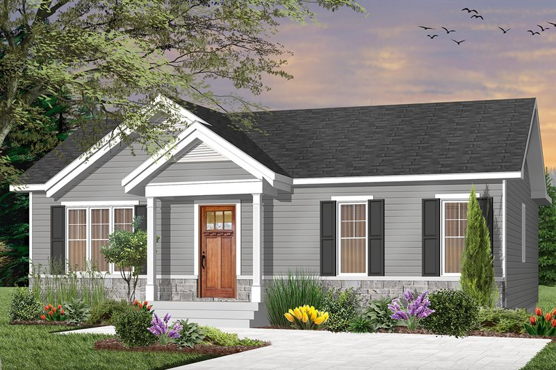 Dream House Plan - Craftsman Exterior - Front Elevation Plan #23-2696