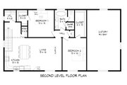 Contemporary Style House Plan - 2 Beds 1 Baths 1251 Sq/Ft Plan #932-307 Floor Plan - Upper Floor