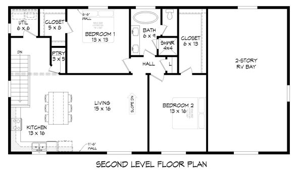 Contemporary Floor Plan - Upper Floor Plan #932-307