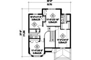 European Style House Plan - 4 Beds 2 Baths 1820 Sq/Ft Plan #25-4474 Floor Plan - Upper Floor Plan