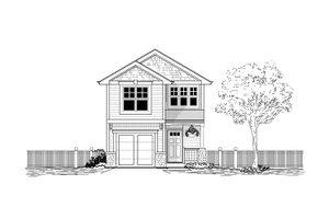 Craftsman Exterior - Front Elevation Plan #53-493