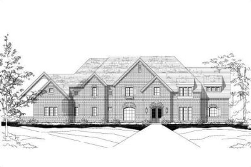 Traditional Style House Plan - 5 Beds 5 Baths 7141 Sq/Ft Plan #411-244 Exterior - Front Elevation